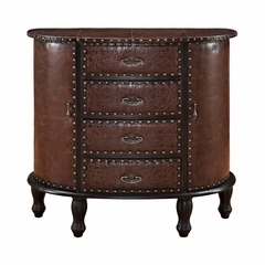 Expedition Chestnut 3 Drawer, 2 Door Demilune Console - Powell Furniture - POWELL-491-331