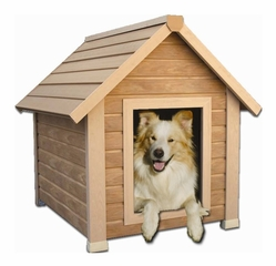 Extra Large Size Bunkhouse Style Dog House in Natural Cedar - NewAgeGarden - ECOH101XL