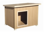 Extra Large Size Rustic Lodge Style Dog House in Natural Cedar - NewAgeGarden - ECOH201XL