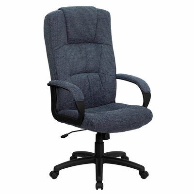 Fabric Office Chair - High Back Contemporary Executive Swivel Chair - BT-9022-BK-GG