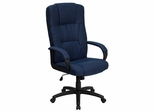 Fabric Office Chair - High Back Contemporary Executive Swivel Chair - BT-9022-BL-GG