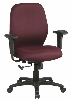 Fabric Office Chair - Mid Back 2-to-1 Synchro Tilt Chair - Office Star - 3121