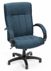 Fabric Office Chair - Upholstered Executive/Conference Chair (Hi-back) - OFM - 452