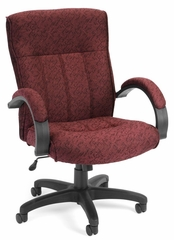 Fabric Office Chair - Upholstered Executive/Conference Chair (Mid-back) - OFM - 453