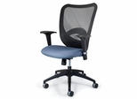 Fabric Office Chair with Mesh Back - Q-Ten Lite Mesh Back Desk Chair - Standard Systems Seating - 1001ST