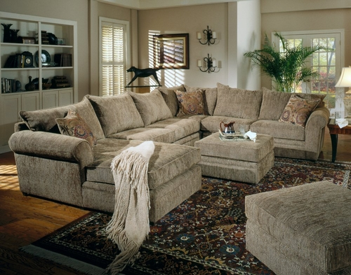 Fabric Sectional Sofa Set - 2 Piece in Sage / Chenille Fabric - Coaster