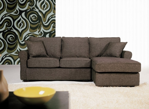 Fabric Sectional Sofa Set - 2 Piece with Sofa and Chaise in Charcoal - TD6832-SD111-22
