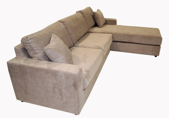 Fabric Sectional Sofa Set - 2 Piece with Sofa Bed and Chaise in Oat - TD6821-KF-06