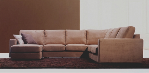 Fabric Sectional Sofa Set - 4 Piece in Brown - TD6309-D-KF-14