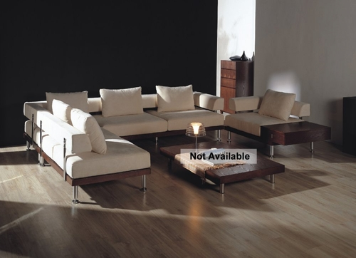 Fabric Sectional Sofa Set - 4 Piece in Cream - CF-25-VEN-01