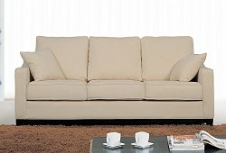 Fabric Sofa in Beige - TD6825-KF-3-SOFA