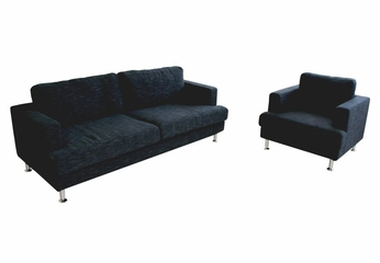 Fabric Sofa Set - 2 Piece with Sofa and Chair in Deep Blue - TD7307-AD82-18-2PC