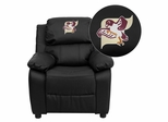 Fairmont State University Falcons Black Leather Kids Recliner - BT-7985-KID-BK-LEA-41029-EMB-GG