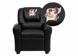 Fairmont State University Falcons Black Vinyl Kids Recliner - DG-ULT-KID-BK-41029-EMB-GG