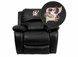 Fairmont State University Falcons Leather Rocker Recliner - MEN-DA3439-91-BK-41029-EMB-GG