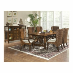 Fairwinds Rectangular 8 Piece Dining Set with Woven Chairs - Largo - LARGO-WG-D2239-WOVEN-SET