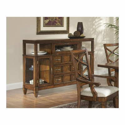 Fairwinds Server in Brown Mahogany / Rattan - Largo - LARGO-ST-D2239-250B