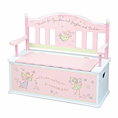 Fairy Wishes Bench Seat w/ Storage - LOD61001