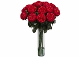 Fancy Rose Silk Flower Arrangement - Nearly Natural - 1219-RD