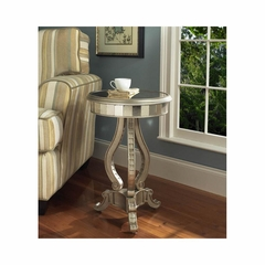 Fantasy Mirrored Pedastal Table - Pulaski
