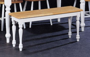 Farm House Bench in Natural / White - Coaster