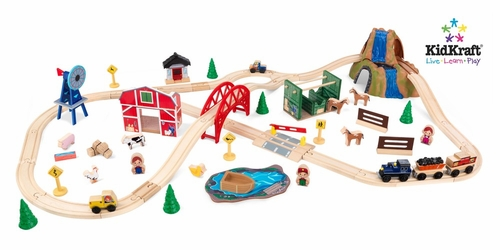 Farm Train Set in Multi-Color - KidKraft Furniture - 17827