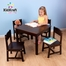 Farmhouse Table and Chair Set in Espresso / Multi-Color - KidKraft Furniture - 21453
