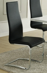 Faux Leather Dining Chair - Set of 4 - 100515BLK