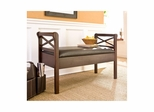 Faux Leather Storage Bench - Holly and Martin