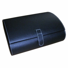 Faux Leather Watch Case in Black - Parker - Jewelry Boxes by Mele - 0068411M