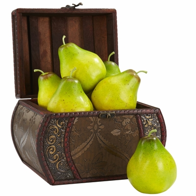 Faux Pear (Set of 6) - Nearly Natural - 2138