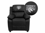 Fayetteville State University Broncos Leather Kids Recliner - BT-7985-KID-BK-LEA-41030-EMB-GG