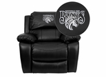 Fayetteville State University Broncos Leather Rocker Recliner - MEN-DA3439-91-BK-41030-EMB-GG