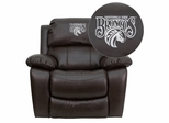 Fayetteville State University Broncos Leather Rocker Recliner - MEN-DA3439-91-BRN-41030-EMB-GG