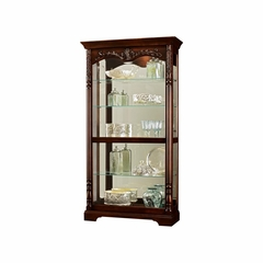 Felicia Display Cabinet - Distressed Cherry - Howard Miller