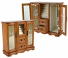 Feliciana Jewelry Box with Glass Doors - JBQ-CL555