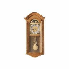 Fenton Chiming Wall Clock in Golden Oak - Howard Miller