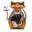 Figurine Fan - Cat - Cheers - Deco Breeze - DBF0173