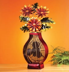 Figurine Fan - Flower Vase- Deco Breeze - DBF0364