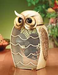 Figurine Fan - Snow Owl - Deco Breeze - DBF0187