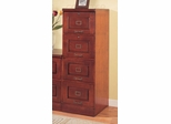 File Cabinet with Four Drawers in Cherry - Coaster
