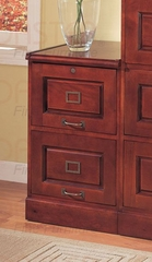 File Cabinet with Two Drawers in Cherry - Coaster