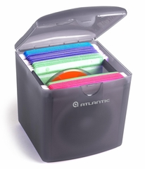 File Cube 80 CD or DVD Holder in Gray Frost - Atlantic - 22804111