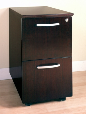 File-File Mobile Pedestals in Mahogany - Mayline Office Furniture - VFFMAH