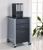 Filing Cabinet in Black Glass KG02 - Innovex - SKG02G29
