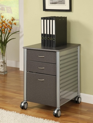 Filing Cabinet in Granite Black KM02 - Innovex - SKM02W36