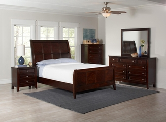 Findley 5PC Queen Bedroom Set in Dark Cherry - 202791Q