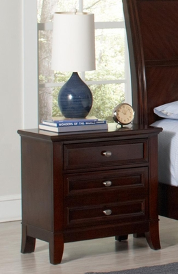Findley Nightstand in Dark Cherry - 202792