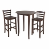 Fiona 3Pc Tall Round Table Dining Set - Winsome Trading - 94389
