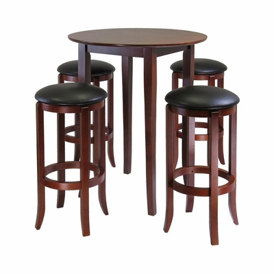 Fiona Round 5Pc Pub Table Set - Winsome Trading - 94581